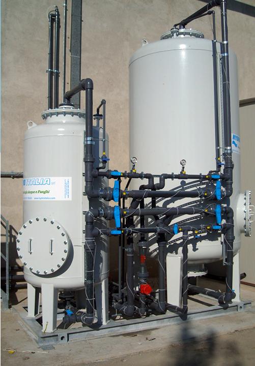 sistema filtrazione adsorbimento